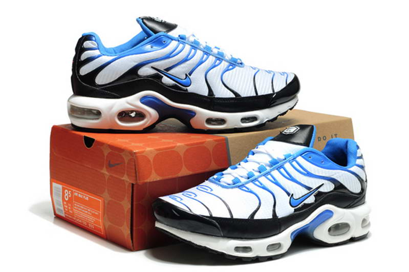 new arrival 69207 6bb14 ... Nike Tn New Mens Shoes maille Blanc Bleu Noir