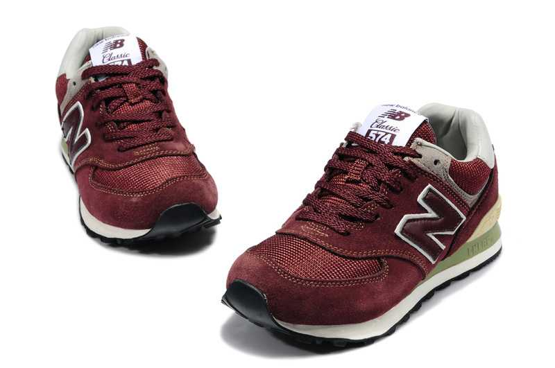 New Balance 574 Homme Bordeaux