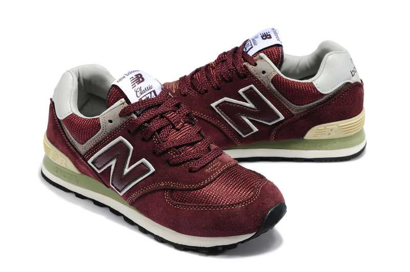 new balance 574 bordeaux et marron